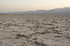 Bacino di Badwater (punto più basso sull'emisfero occidentale) Fotografia Stock