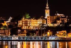 Bacino di Belgrado e chiesa 1 fotografie stock libere da diritti