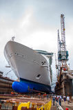 Bacino di carenaggio della nave da crociera Fotografia Stock
