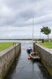 Bacino di Claddagh nel vecchio porto di Galway, Irlanda Fotografie Stock Libere da Diritti