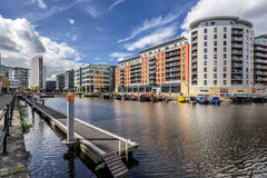Bacino di Leeds nella città di Leeds fotografia stock libera da diritti
