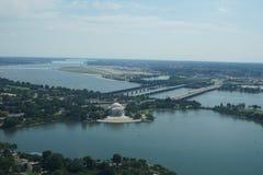 Bacino di marea e Jefferson Memorial Immagine Stock