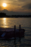 Bacino di tramonto Immagine Stock Libera da Diritti