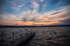 Bacino di tramonto fotografia stock