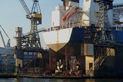 Bacino galleggiante nel porto di Amburgo Fotografia Stock Libera da Diritti
