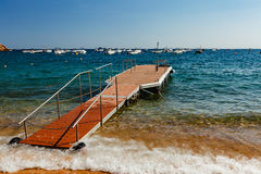 Bacino galleggiante a Tossa de Mar fotografia stock libera da diritti