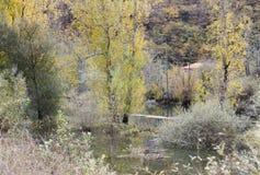 Bacino idrico, Asturie, Spagna immagini stock libere da diritti