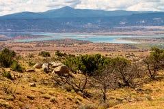 Bacino idrico del lago Abiquiu, New Mexico Fotografia Stock Libera da Diritti