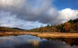 Bacino idrico del n-y-mynydd di Lyn Ty Fotografie Stock