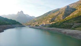 Bacino idrico dell'alta montagna Fotografie Stock Libere da Diritti