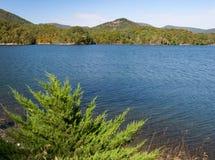 Bacino idrico della baia di Carvins, Roanoke, la Virginia, U.S.A. immagine stock libera da diritti