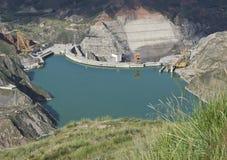 Bacino idrico della diga Fotografia Stock