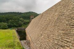 Bacino idrico di Derwent nella valle superiore di Derwent Fotografie Stock