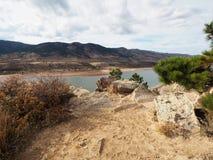 Bacino idrico di Horsetooth in Collins Colorado forte immagine stock