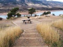 Bacino idrico di Horsetooth in Collins Colorado forte fotografia stock libera da diritti