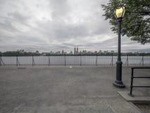 Bacino idrico di Jacqueline Kennedy Onassis Reservoir Central Park Immagine Stock Libera da Diritti