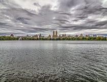 Bacino idrico di Jacqueline Kennedy Onassis Reservoir Central Park Immagini Stock Libere da Diritti
