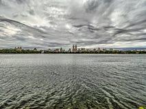 Bacino idrico di Jacqueline Kennedy Onassis Reservoir Central Park Fotografie Stock