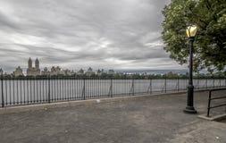 Bacino idrico di Jacqueline Kennedy Onassis Reservoir Central Park Fotografia Stock