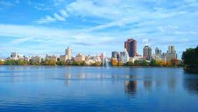 Bacino idrico di JKO in Central Park immagine stock