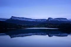 Bacino idrico di Marono alla notte Fotografia Stock