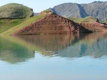 Bacino idrico di Nurek Fotografie Stock