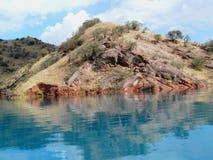 Bacino idrico di Nurek Immagine Stock