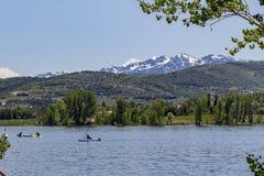 Bacino idrico di Pineview vicino all'Eden, Utah fotografie stock