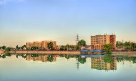 Bacino idrico di Sairan a Almaty - il Kazakistan Fotografia Stock Libera da Diritti