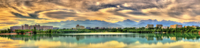 Bacino idrico di Sairan a Almaty - il Kazakistan Immagine Stock Libera da Diritti