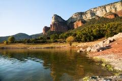 Bacino idrico di Sau La Catalogna, Spagna Immagini Stock Libere da Diritti