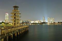 Bacino idrico di Singapore Immagine Stock