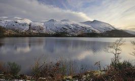 Bacino idrico di Thirlmere, inverno Immagini Stock