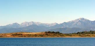Bacino idrico in pianura orientale della Corsica Fotografie Stock