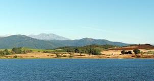 Bacino idrico in pianura orientale della Corsica Immagini Stock