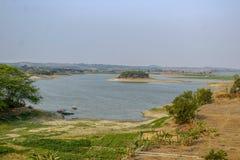 Bacino idrico Tegal Regency, Indonesia di Cacaban immagini stock libere da diritti