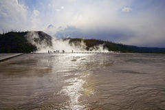 Bacino intermedio del geyser, sosta nazionale del Yellowstone immagine stock libera da diritti