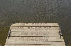 Bacino per le barche di lancio Fotografia Stock