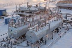 Bacino petrolifero Fotografia Stock