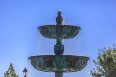 Bacino superiore e più basso della fontana di rame Immagini Stock Libere da Diritti