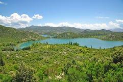 Bacinska Seen, Makarska Riviera, Dalmatien, Kroatien Stockfotografie