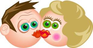 Bacio illustrazione di stock