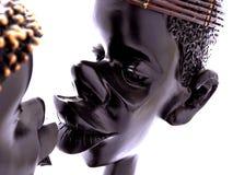 Bacio africano Immagini Stock