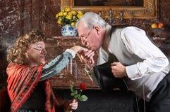 Bacio antiquato Immagine Stock
