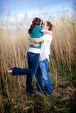 Bacio appassionato fotografia stock libera da diritti