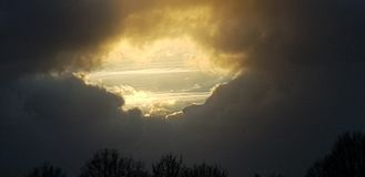 Bacio dal cielo fotografia stock libera da diritti