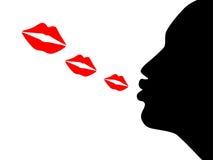 Bacio del colpo Immagini Stock