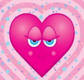 Bacio del cuore Immagine Stock