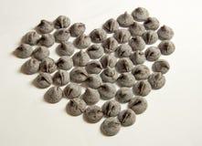 Bacio del cuore del cioccolato Fotografia Stock Libera da Diritti