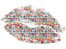 Bacio del mondo Fotografia Stock Libera da Diritti